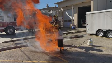 Fry turkeys safely, firefighters say