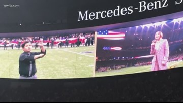 Destrehan boy uses sign language to perform National Anthem at College Football Championship