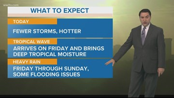 New Orleans Weather: Hot with fewer storms Thursday