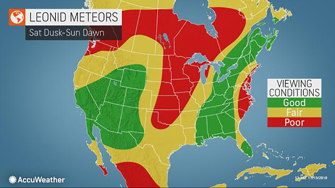 November's best meteor shower will be highly visible in New Orleans area tonight - WWLTV.com image