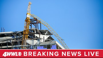Live video of Hard Rock Hotel collapse site in New Orleans