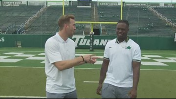 100 yards with the Green Wave: Darius Bradwell