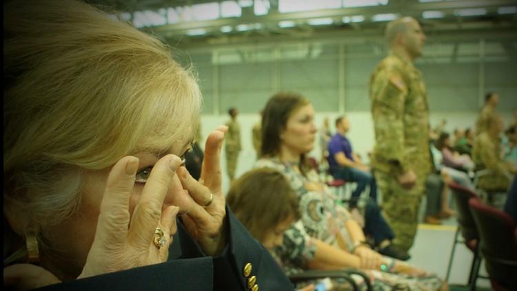 Louisiana National Guard Deployment - tears flow