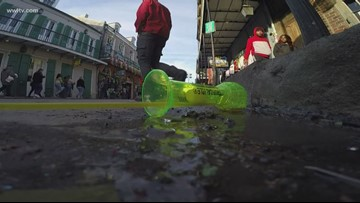Cups, beads and broken glass removed from streets as Mardi Gras cleanup begins