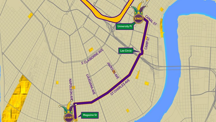 Krewe of Chaos 2020 parade route