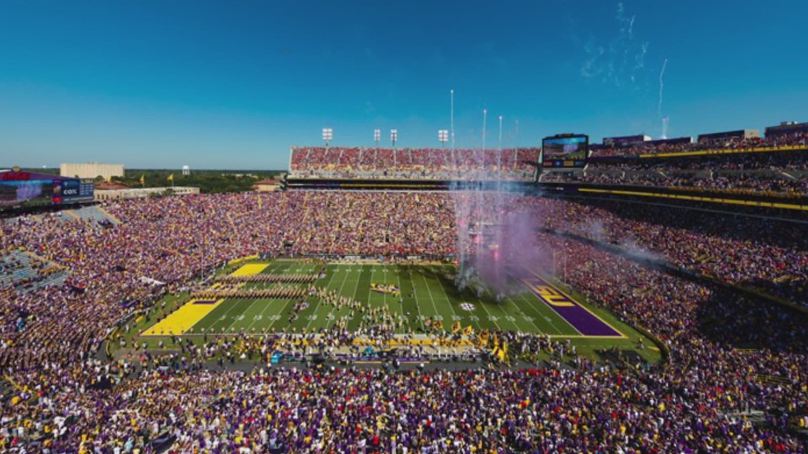 LSU says masks are no longer needed at sporting events