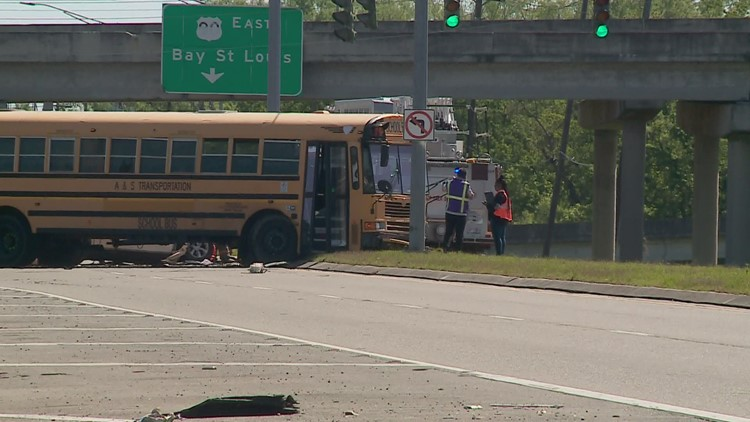 New Orleans school bus involved in fatal crash, no students on board