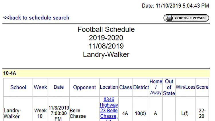 Landry-Walker forfeit