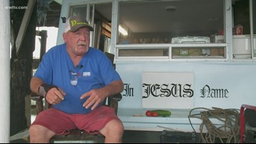 'I got my boat. That's all I need' Man rides out Hurricane Barry in his houseboat